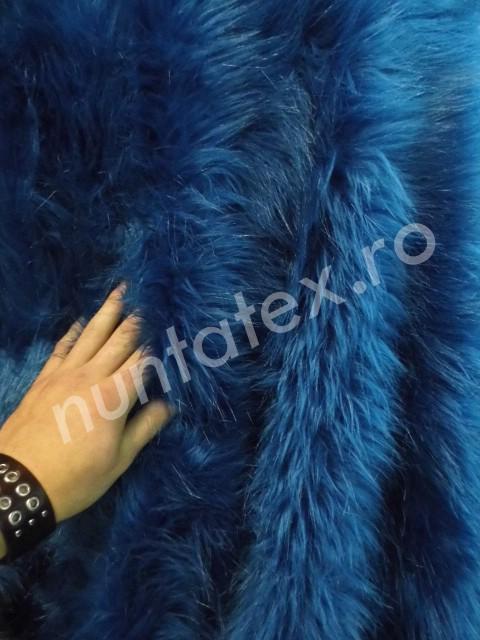 Blana Artificiala Par Lung Albastru Nuntatex Ro