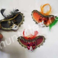 Masti venetiene cu magnet colorate