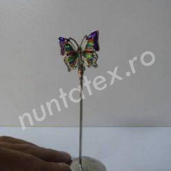 Suport place card fluture metalic