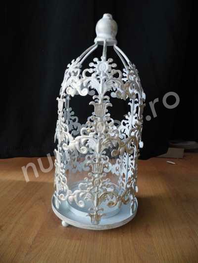 Felinar decorativ din metal pret