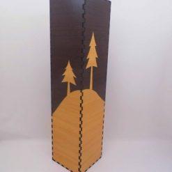 Vaza din lemn inalta