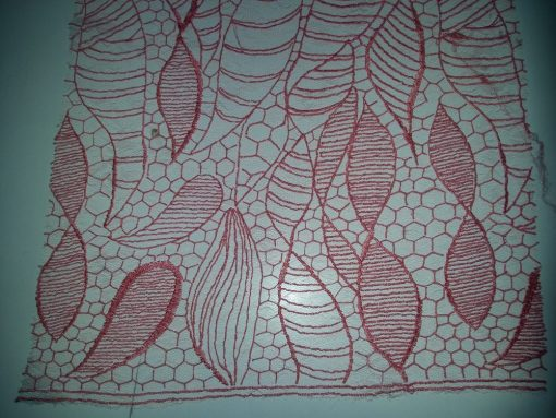 broderie material pret coral