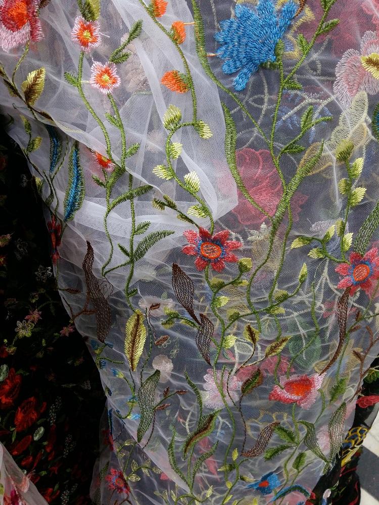 organza cu flori material