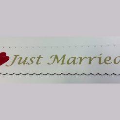pancarta nunta Just Married