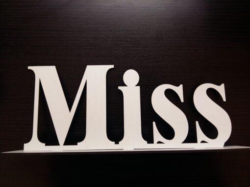 cuvinte decorative nunta Miss/Mister