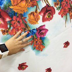 Tafta imprimata digital flori