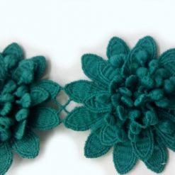 Benzi decorative flori 3D pentru rochii