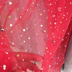 Tiul cu perle si paiete colorate online