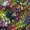 Tiul cu paiete multicolore paiete colorate
