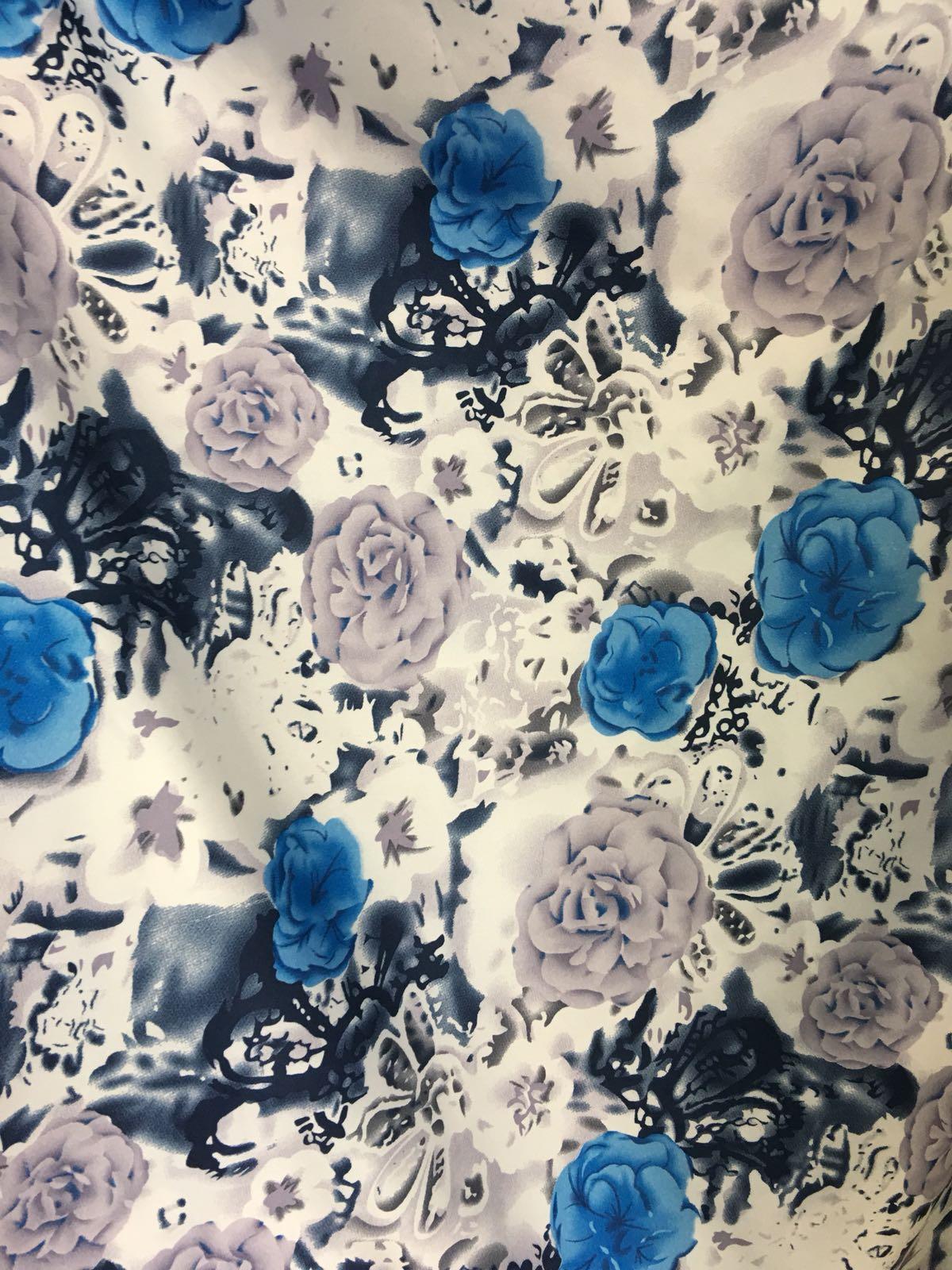 Saten imprimat rochii