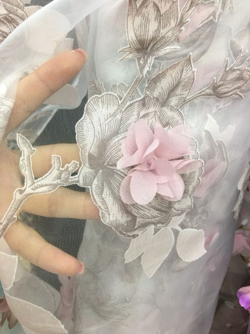 Organza imprimata flori