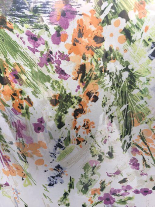 Voal imprimat cu flori online
