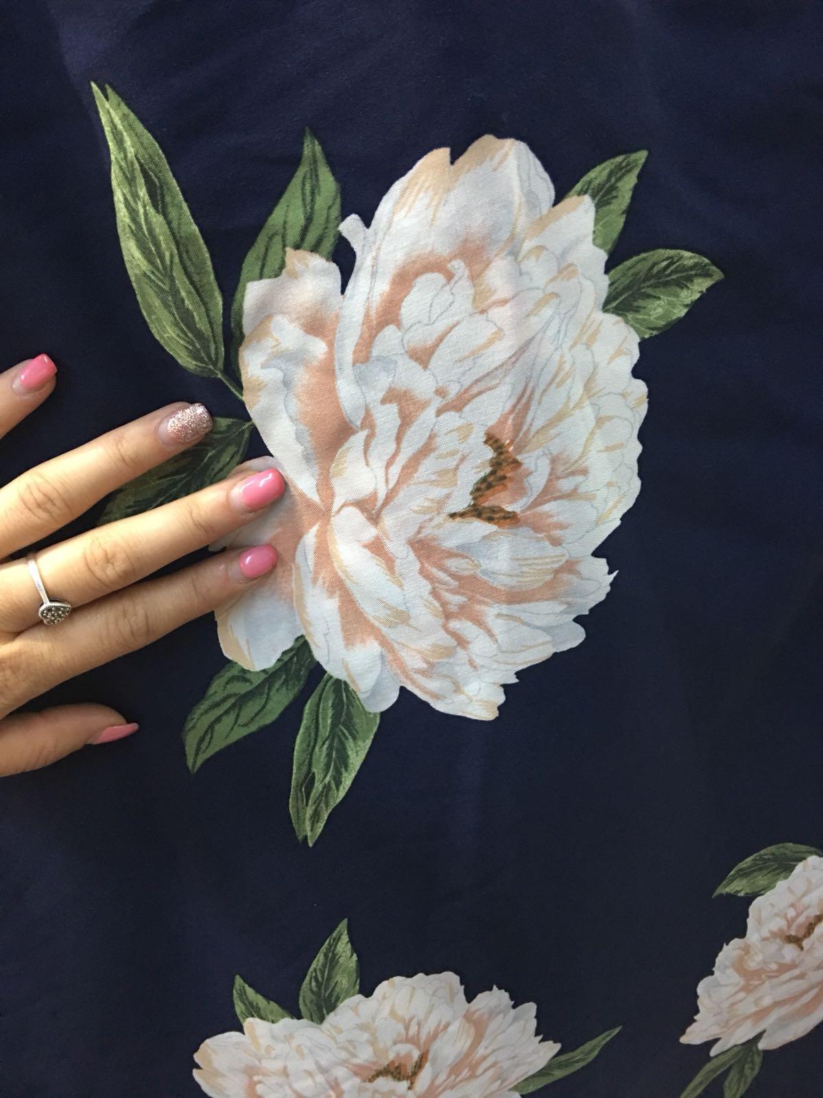 Vascoza imprimata cu flori material
