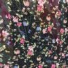 Voal negru cu flori pret la metru