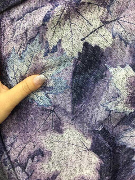 Jersey cu frunze imprimate