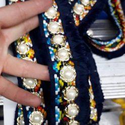 Banda colorata cu perla