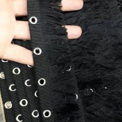 Banda textila cu franjuri