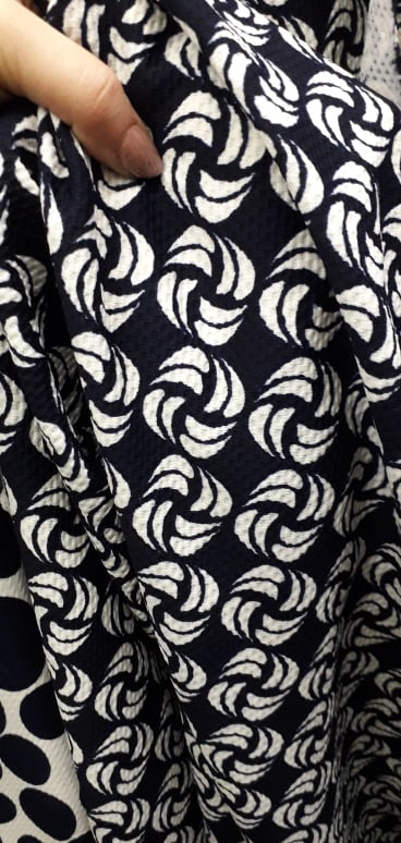 Jersey imprimat pentru rochii