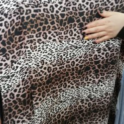 Triplu voal leopard