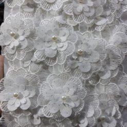 Banda floare organza
