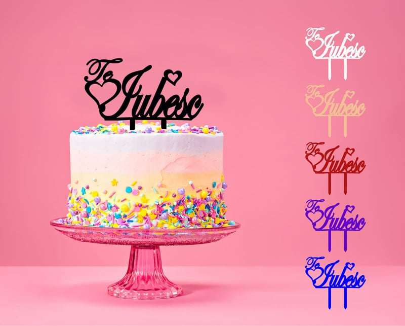 Topper cake love