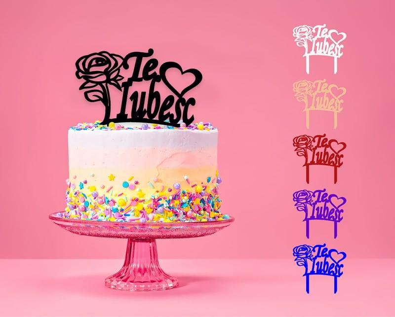 Topper cake model trandafiri