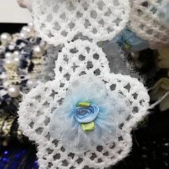 Banda brodata flori online