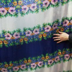 Material voal floral pret