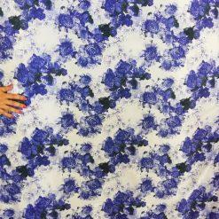 Voal imprimat cu flori