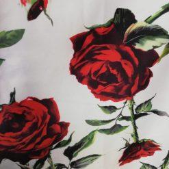 Tafta alba cu flori