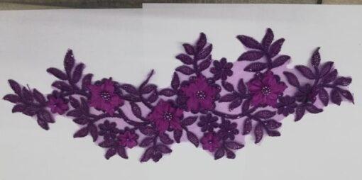 Aplicatie floare mov