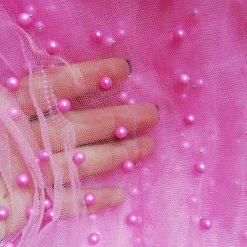 Tull roz cu perle
