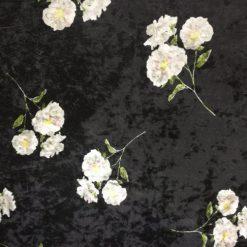 Material catifea cu flori 41019-2