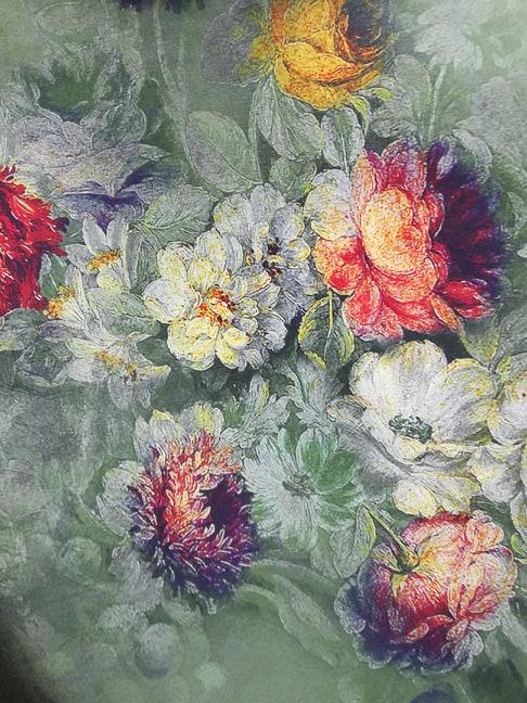 Tafta imprimata cu flori