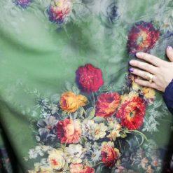Tafta imprimata floral pret