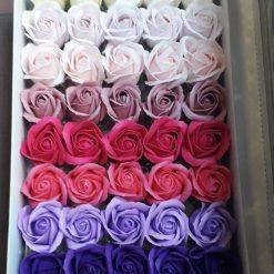 Flori colorate pret cutie