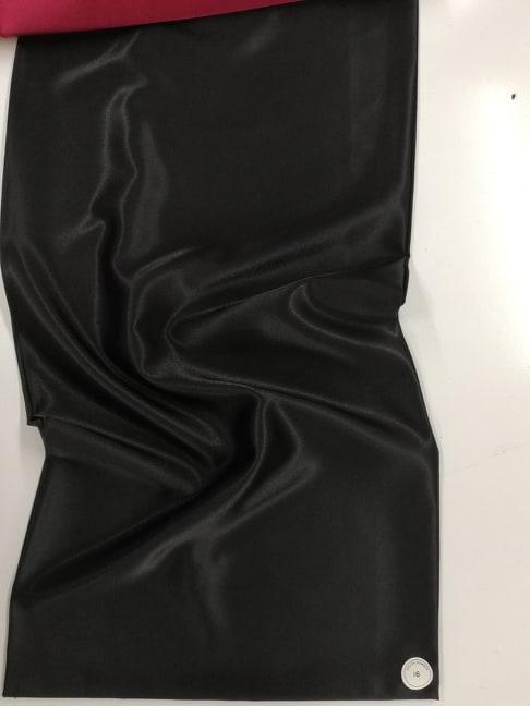 Material satin elastic negru