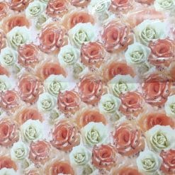 Coli hartie trandafiri imprimati
