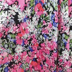 Tesatura voal flori colorate