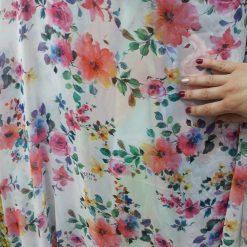 Voal imprimat pentru rochii
