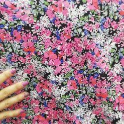 Voal flori colorate