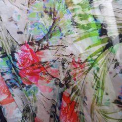 Voal imprimeu colorat pret