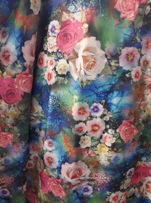 Tesatura cu flori