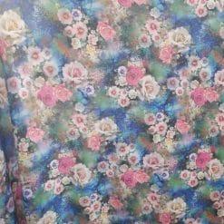Material vascoza cu flori